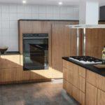 Zamrażarka do zabudowy nie zepsuje wyglądu nowoczesnej, designerskiej kuchni.
